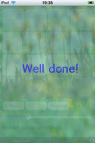 Sequember well done screen
